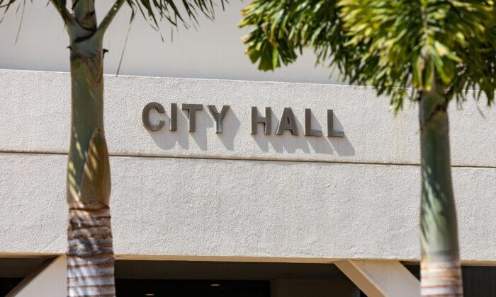 Huntington Beach City Hall in Huntington Beach, Calif., on Sept. 29, 2020. (John Fredricks/The Epoch Times)