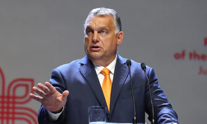 Hungarian Prime Minister Viktor Orban attends a news conference in Lublin, Poland, on Sept. 11, 2020. (Czarek Sokolowski/AP Photo)