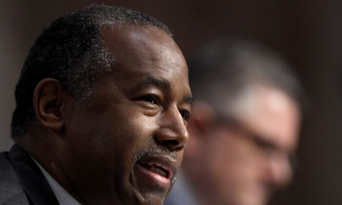 Housing Secretary Ben Carson testifies before the Senate in Washington on June 9, 2020. (Win McNamee/Pool/AFP via Getty Images)