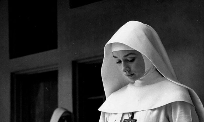 """Audrey Hepburn in """"The Nun's Story."""" Warner Bros. (Public Domain)"""