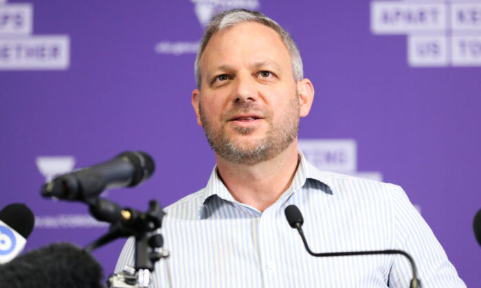 Chief Health Officer Professor Brett Sutton  during a press conference in Melbourne, Australia on Oct. 31, 2020. (Asanka Ratnayake/Getty Images)