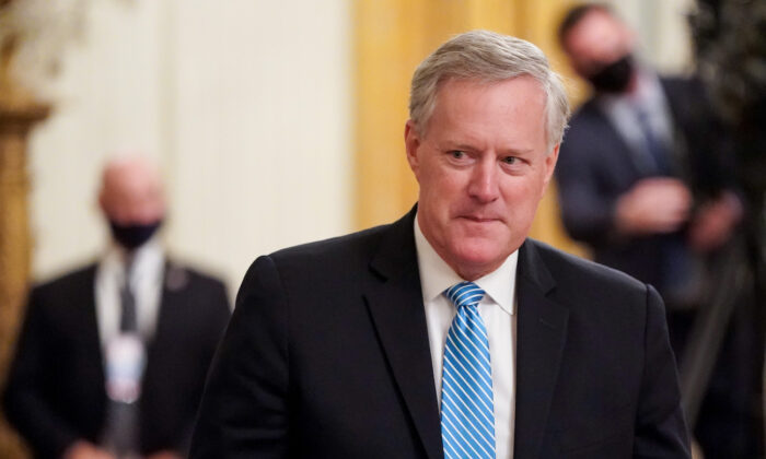 White House chief of staff Mark Meadows in the East Room of the White House on Sept. 23, 2020. (Joshua Roberts/Getty Images)