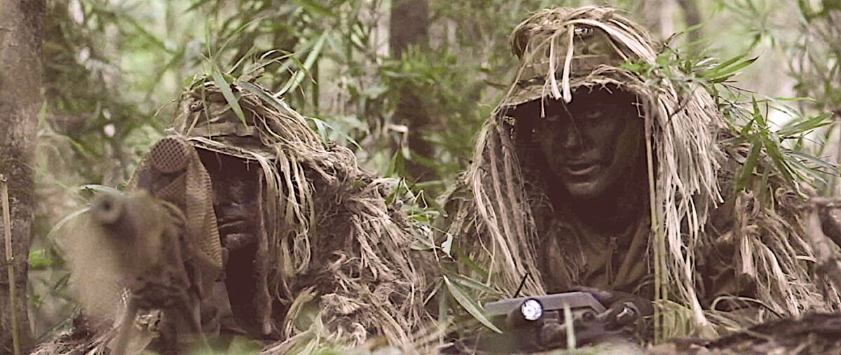 """sniper and spotter in ghillie suits in """"Act of Valor"""""""