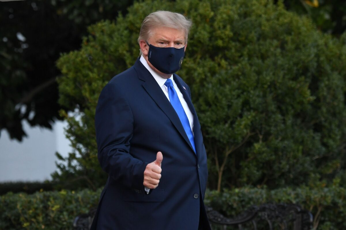 Trump walks in order to Marine One