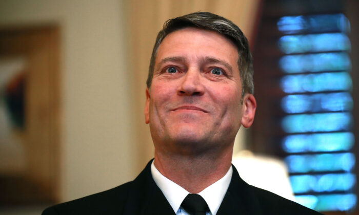Physician to the President U.S. Navy Rear Admiral Ronny Jackson at the U.S. Capitol in Washington on April 16, 2018. (Chip Somodevilla/Getty Images)