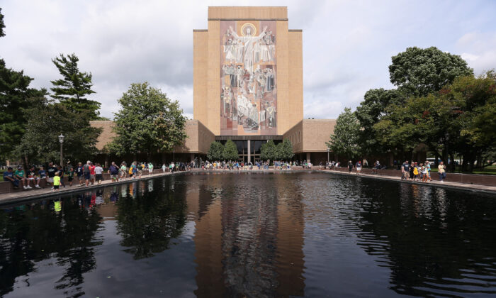 File photo of campus of University of Notre Dame in South Bend, Ind.  (Jonathan Daniel/Getty Images)