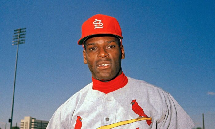 St. Louis Cardinals pitcher Bob Gibson is pictured during baseball spring training in Fl., in March 1968. (AP Photo)