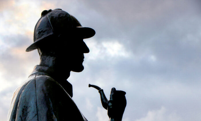 In his later years, Sherlock Holmes thwarted criminals who posed a threat against society. The preeminent detective's statue near baker street in London.