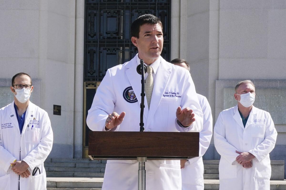 Dr. Sean Conley, physician to President Donald Trump