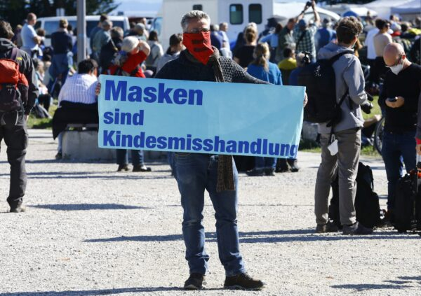 Germany mask protest