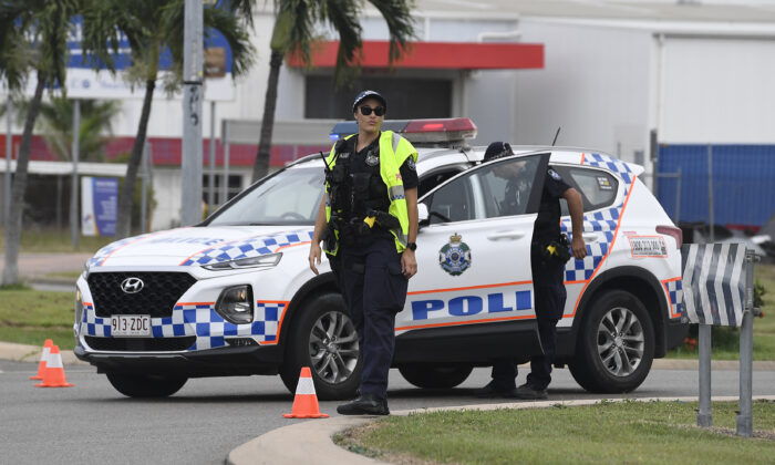 Police in Queensland, Australia on June 7, 2020. (Ian Hitchcock/Getty Images)