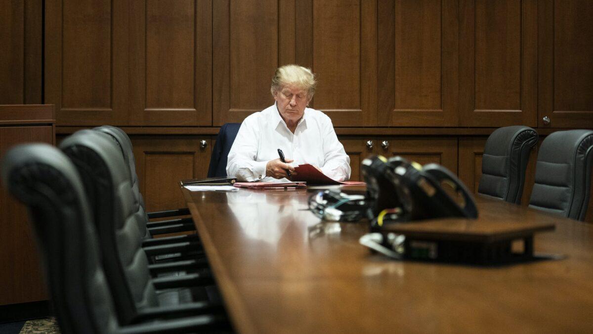President Donald Trump at Walter Reed