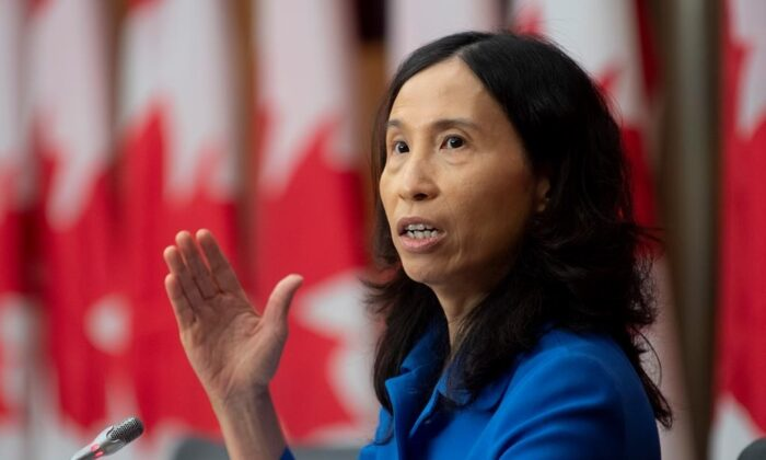 Chief Public Health Officer Theresa Tam responds to a question during a news conference, on Oct. 5, 2020 in Ottawa. (The Canadian Press/Adrian Wyld)