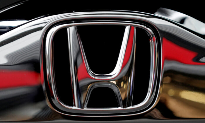 Honda's logo on its Modulo model at its showroom at its headquarters in Tokyo, Japan, on Feb. 19, 2019. (Kim Kyung-hoon/Reuters, File Photo)