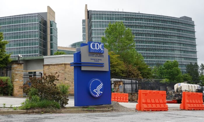 The Centers for Disease Control (CDC) headquarters is seen in Atlanta on April 23, 2020. (Tami Chappell/Getty Images)