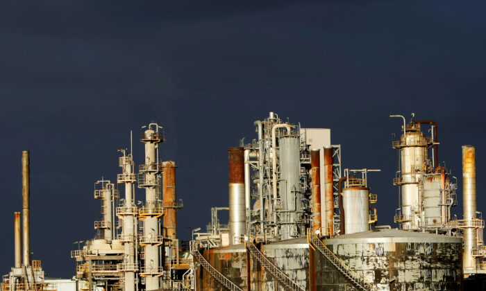 A view of the Mobil oil refinery at Altona in Melbourne, Australia, on June 27, 2008. (Mick Tsikas/Reuters)