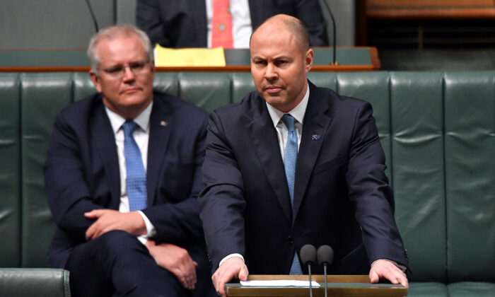 Treasurer Josh Frydenberg in Canberra, Australia on Dec 17 , 2020. (Sam Mooy/Getty Images)