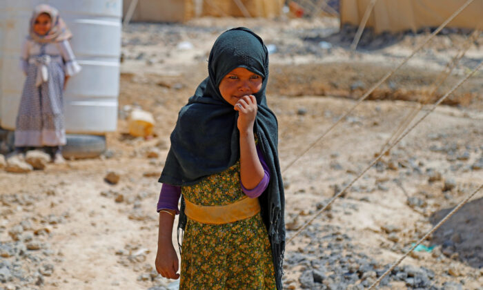 A girl is pictured at a camp for internally displaced people (IDPs) in Marib, Yemen on Oct. 1, 2020. (Nusaibah Almuaalemi/Reuters)