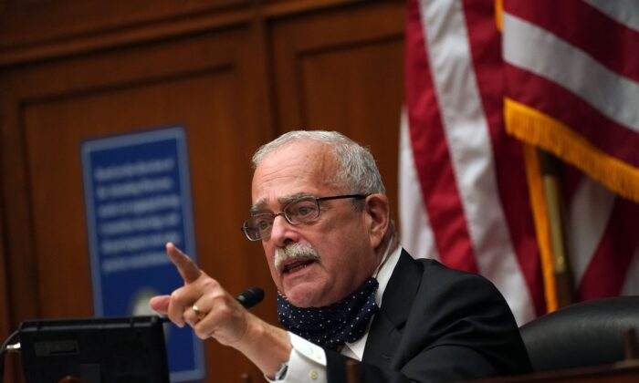 Rep. Gerald Connolly (D-Va.) speaks at the House Committee on Oversight and Reform in Washington on Oct. 7, 2020. (Toni L. Sandys/POOL/AFP via Getty Images)