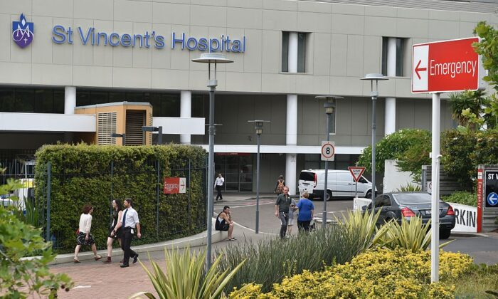 A general view shows Sydney's St Vincent's Hospital on November 25, 2014. ( PETER PARKS/Getty Images)
