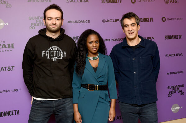 """Head of Acquisitions Alexis Hofmann, """"Cuties"""" Director Maïmouna Doucouré, and President and CEO of BAC Films David Grumbach attend the """"Cuties"""" premiere"""