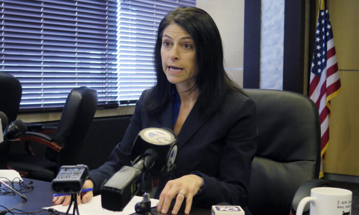 Michigan Attorney General Dana Nessel speaks during a news conference in Lansing, Mich., on March 5, 2020. (David Eggert/AP Photo)