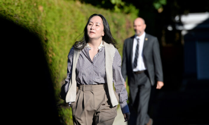Huawei Technologies Chief Financial Officer Meng Wanzhou leaves her home to attend a court hearing in Vancouver, B.C., on Sept. 28, 2020. (REUTERS/Jennifer Gauthier/File Photo)