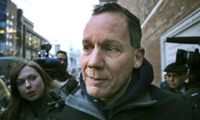 Harvard University professor Charles Lieber leaves federal court following his arrest in Boston, on Jan. 30, 2020. (Charles Krupa/AP Photo)