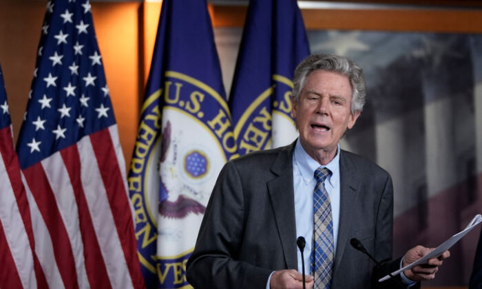 Rep. Frank Pallone (D-N.J.) speaks during a news conference at the U.S. Capitol in Washington on May 27, 2020. (Drew Angerer/Getty Images)