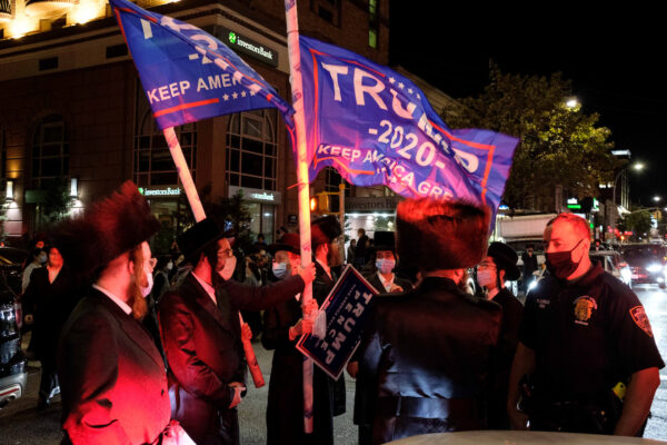 Orthodox Jews gather in Borough Park