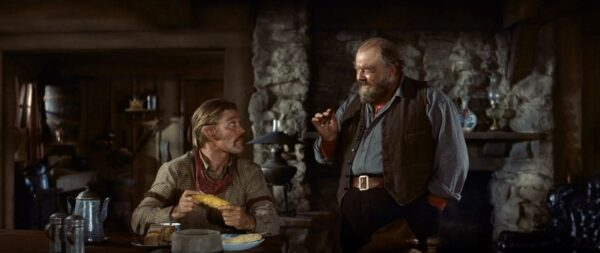 Chuck Connors and Burl Ives in Big Country