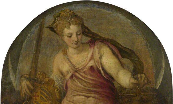 """Justice"" by Giuseppe Salviati, circa 1559. (Public domain)"