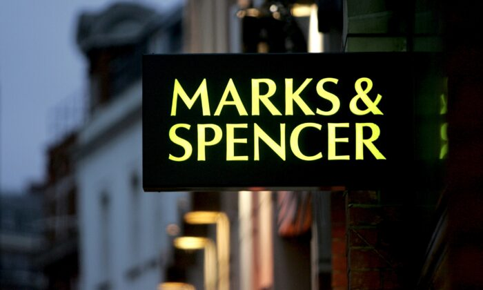 A general view of Marks and Spencer is seen in London, on Jan. 10, 2006.  (Chris Jackson/Getty Images)