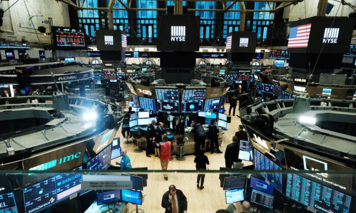 Traders work on the floor of the New York Stock Exchange on March 20, 2020. Spencer Platt/Getty Images