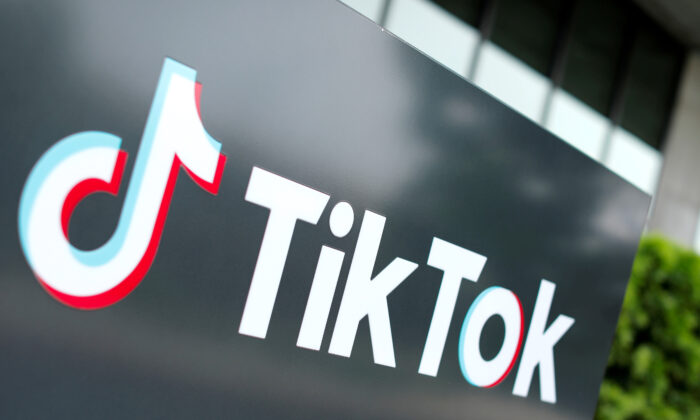 The TikTok logo is pictured outside the company's U.S. head office in Culver City, Calif., on Sept. 15, 2020. (Mike Blake/Reuters)