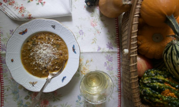 No blender required for this pleasantly chunky butternut squash soup. (Victoria de la Maza)
