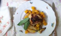Sheet-Pan Roast Chicken, Apple, and Butternut Squash