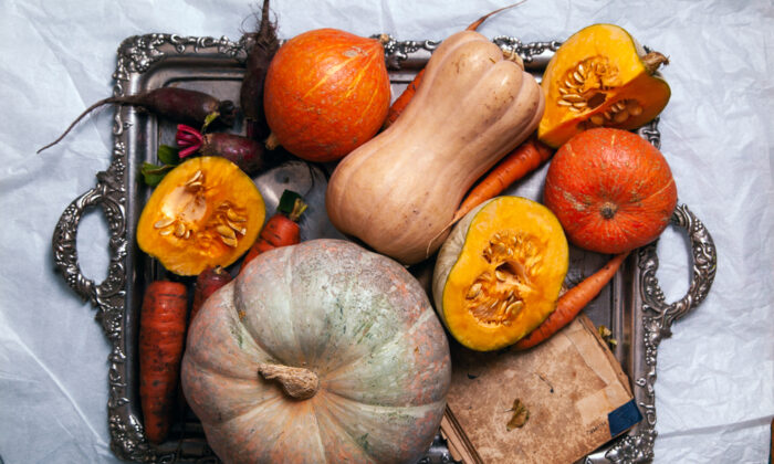 The markets are filled with countless varieties of winter squash in beautiful colors and odd shapes and sizes. (Asya Nurullina/Shutterstock)