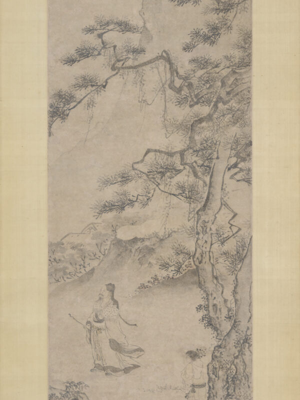 Du Jin portrays poet Tao Yuanming strolling through the mountains and admiring the chrysanthemum blossoms