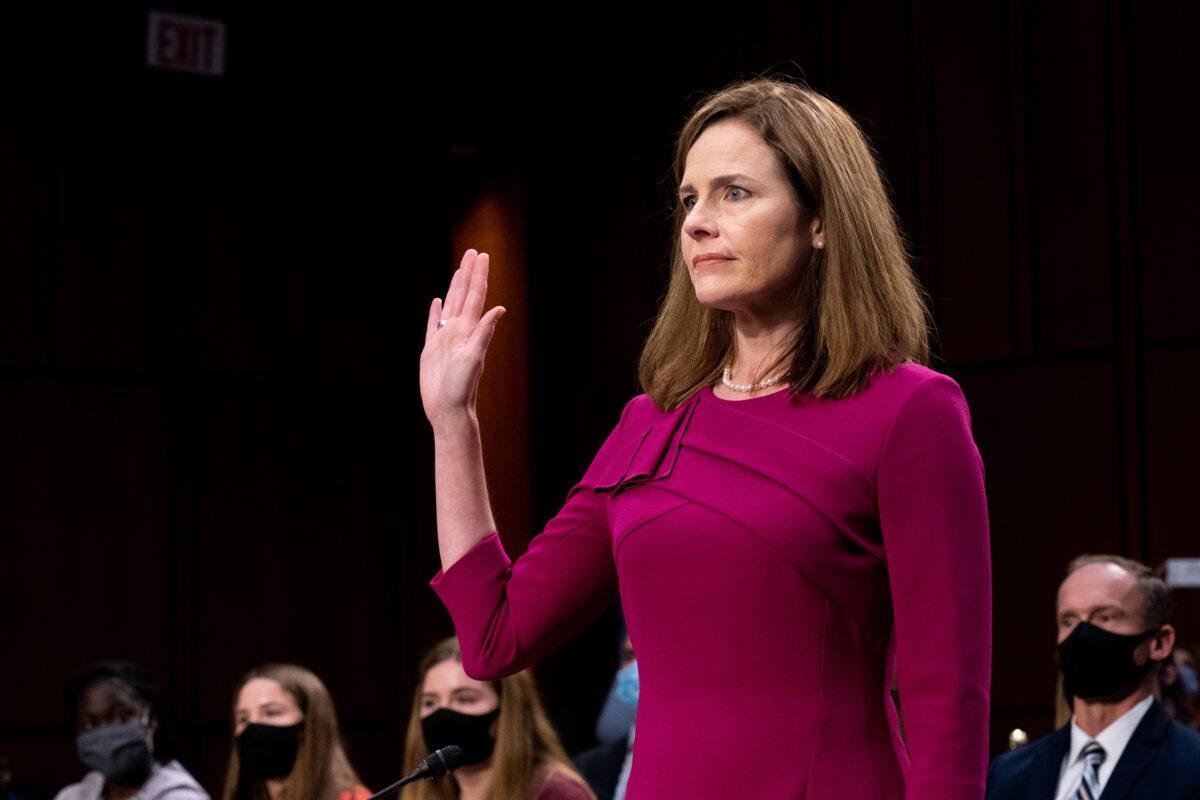 Judge Amy Coney Barrett is sworn in