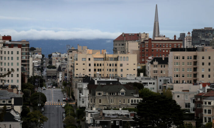 A view of San Francisco on March 16, 2020. (Justin Sullivan/Getty Images)