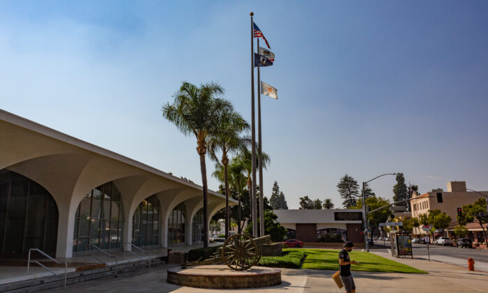 A view of City Hall in Orange, Calif., on Oct. 6, 2020. (John Fredricks/The Epoch Times)