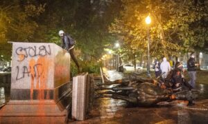 Two Charged for Portland Riot That Toppled Statues