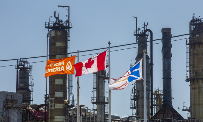 The Come By Chance Refinery in Newfoundland and Labrador on Oct. 6, 2020.  (The Canadian Press/Paul Daly)