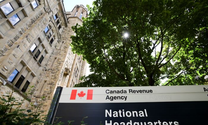 The Canada Revenue Agency (CRA) headquarters Connaught Building is pictured in Ottawa on Aug. 17, 2020. (The Canadian Press/Sean Kilpatrick)