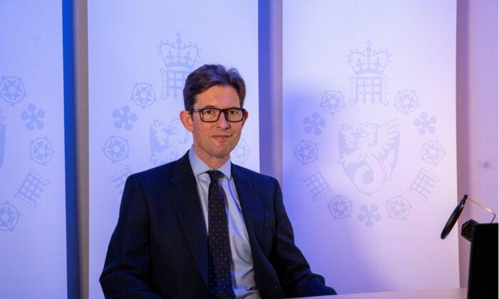 MI5 Director-General Ken McCallum is photographed in London on Oct. 14, 2020. (UK Government/Handout via Reuters)