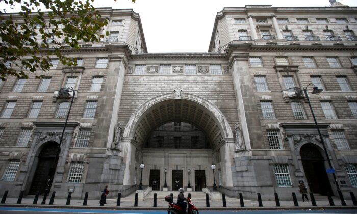 Thames House, the headquarters of the British Security Service (MI5) is seen in London, on Oct. 22, 2015. (Peter Nicholls/Reuters)