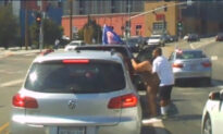 Suspect Attacks Woman in Pro-Trump Caravan