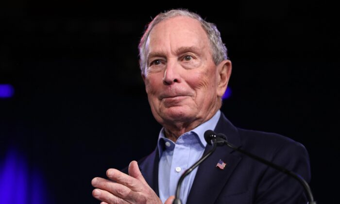 Mike Bloomberg at Palm Beach County Convention Center in West Palm Beach, Fla., on March 3, 2020. (Eva Marie Uzcategui/AFP via Getty Images)