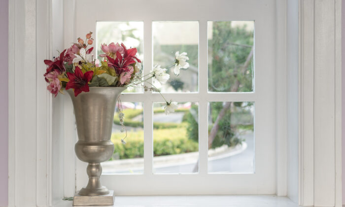 Thicker, more ornate window casing trim can be much more attractive than typical clamshell casing. (All About Space/Shutterstock)